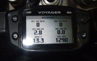 Trail-Tech Voyager mit Drehzahlanzeige