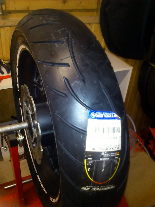 NC700X Reifenwechsel, Felgengewicht