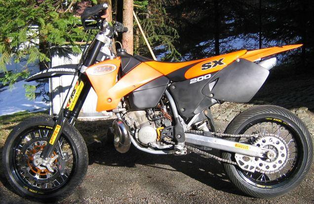 KTM EXC 200 als Supermoto