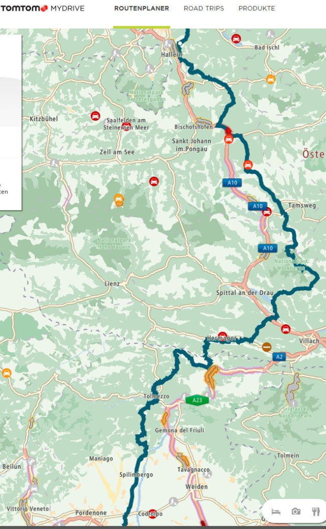 Routenplanung Italien