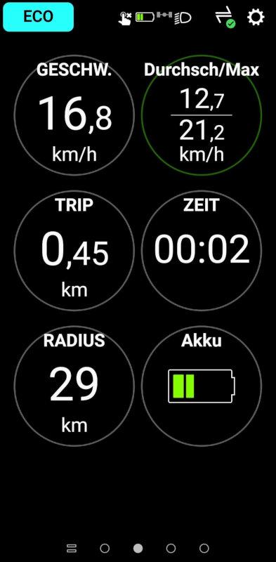 Screenshot Shimano E-Tube Ride App