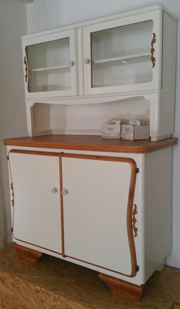 alter Küchenschrank. Küchenbuffet 50er Jahre - Garagenmoebel Küchenbuffet, alte