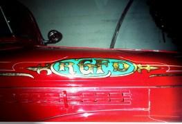 A detail shot of the hood.