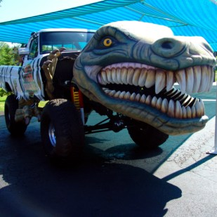 Need a Dinosaur airbrushed? call us. This rather different project was done for the Volo Auto Museum.