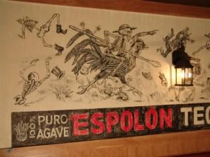 Detail of Espolon Tequila logo