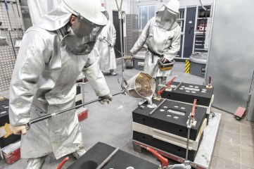 In der werkseigenen Hausgießerei wurden die Zylinderköpfe für den 962 C gegossen. ©Porsche AG