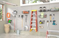 garage wall organization systems panels slatwall hooks ...