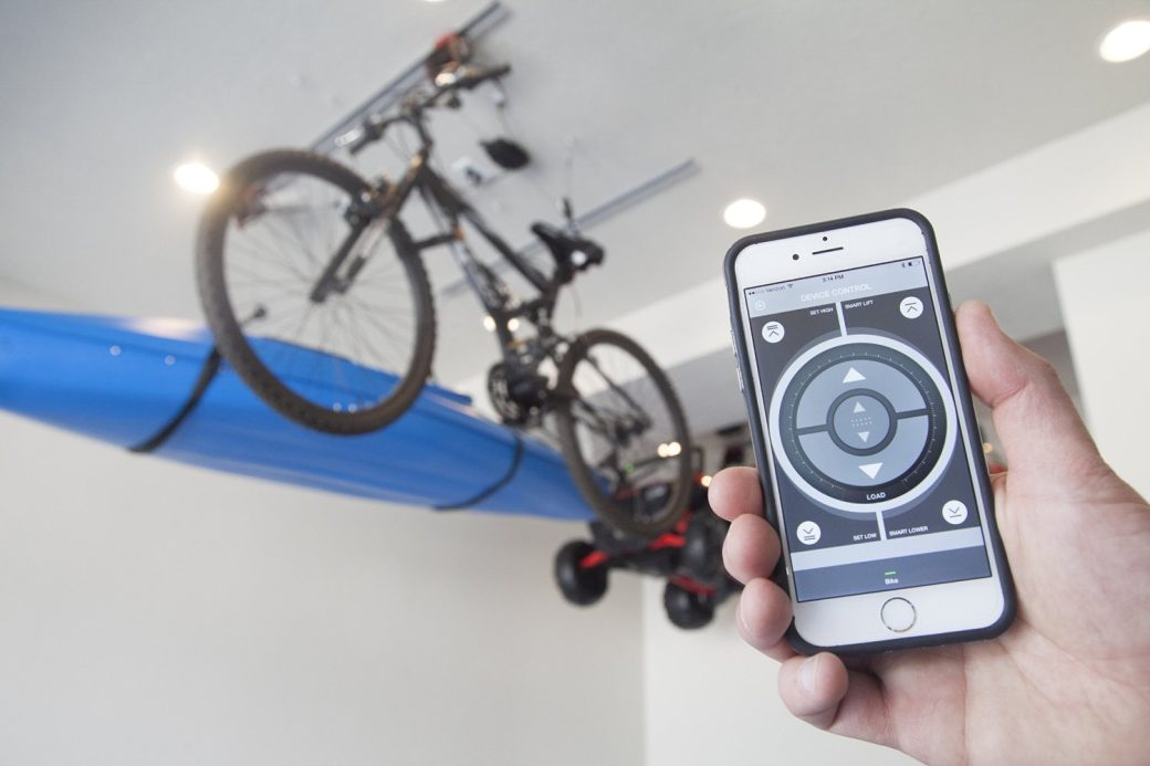 The World's First Smart Hoist Makes Overhead Garage Storage Super-Simple