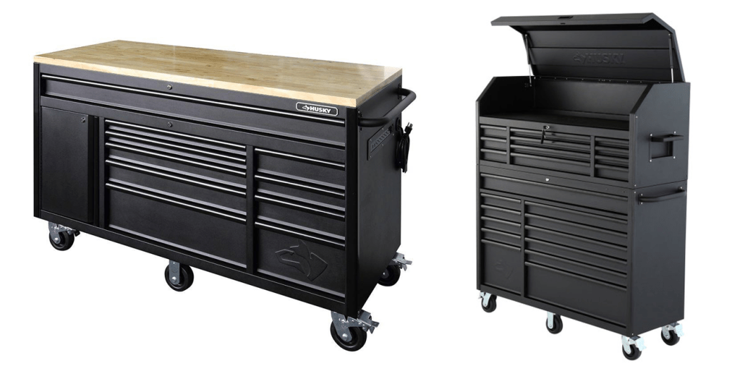 The New Husky Tool Chest, Rolling Cabinet u0026 Workbench Combos - GarageSpot
