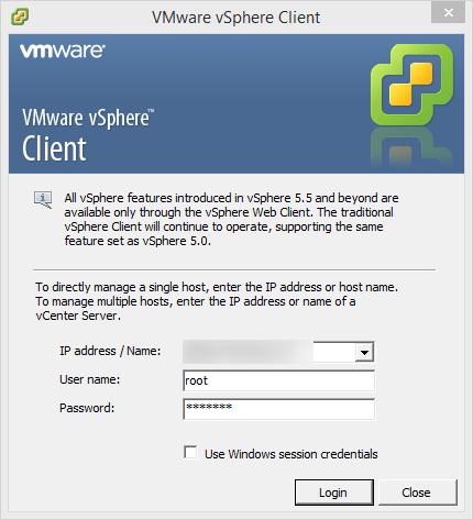 vSphereClient-Login