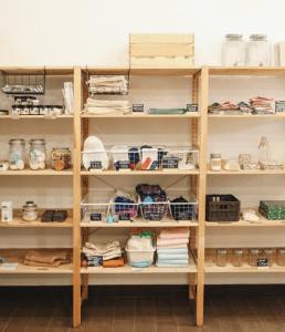 Open Shelves Storage