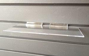 slatwall acrylic shelves