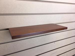 slatwall wood shelves