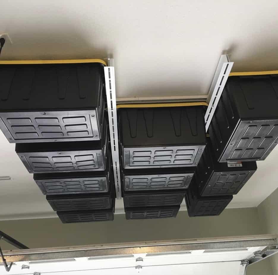 Tote Slide Overhead Garage Storage