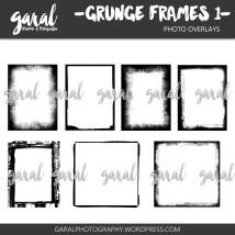 Grunge frames pack 1