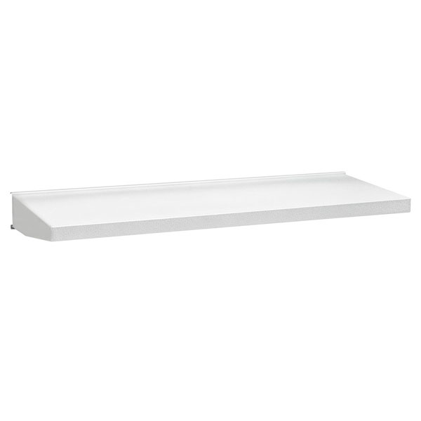 gladiator 30in solid steel shelf in everest white - Gladiator Shelving