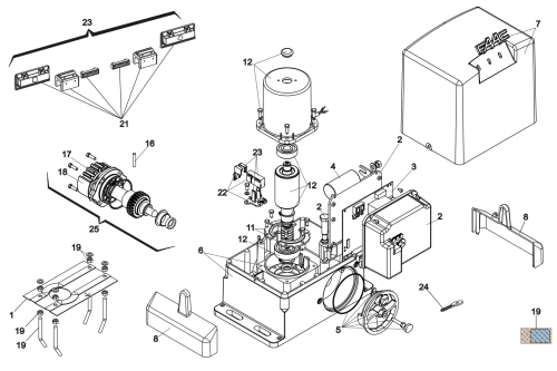 small resolution of illustration components and spare parts for faac 741 ez16