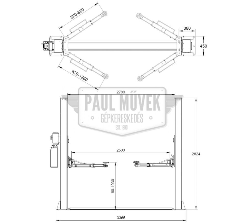 medium resolution of l 200 two post car lift 4t manual