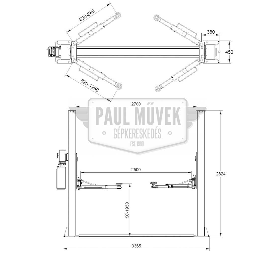 hight resolution of l 200 two post car lift 4t manual