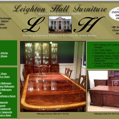 Leighton Hall Furniture