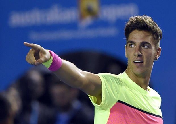 19-year-old Thanasi Kokkinakis helped Australia knock out Czech Republic in the Davis Cup with his victory over Lukas Rosol (Photo Courtesy Tennis.com)