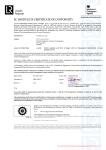 MCA EC (Module D) Certificate of Conformity