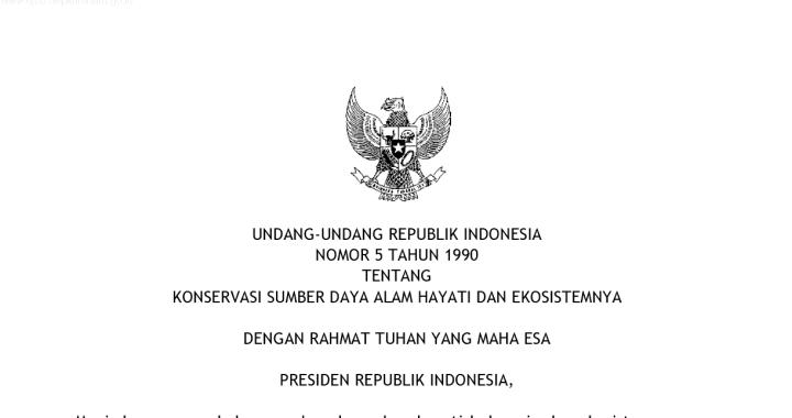 UU no. 5 tahun 1990