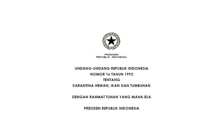 uu no 16 1992 karantina