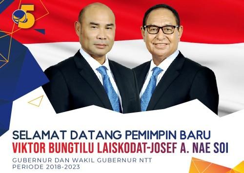 Pleno KPU NTT: Viktor Laiskodat & Josef Nae Soi Gubernur dan Wakil Gubernur NTT 2018-2023