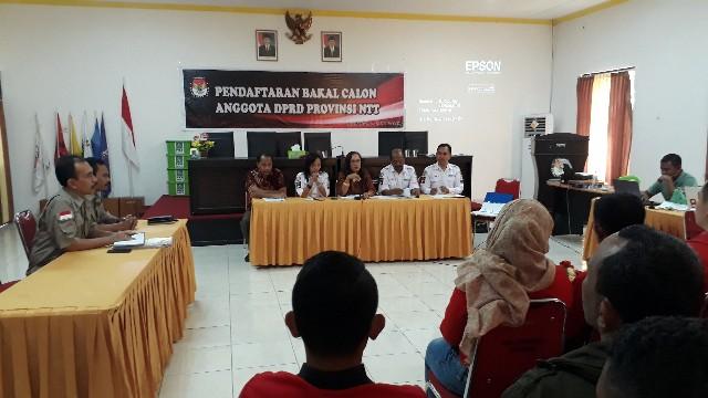 957 Bacaleg DPRD Prov Mendaftar, Hasil Penilaian KPU 21 Juli 2018