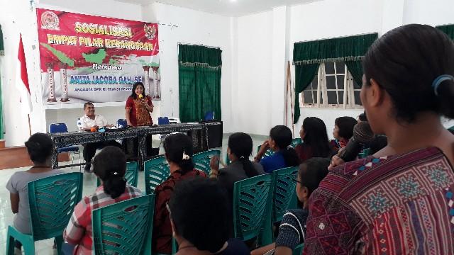 Sosialisasi Empat Pilar di Jemaat Calvari Oebelo, Anita Gah: Ini Bukan Kampanye