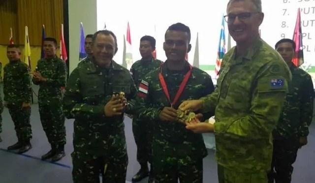 TNI AD 12 Kali Juara Umum Lomba Tembak AASAM di Australia