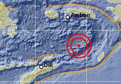 Gempa Bumi M7,7 Guncang Maluku Tenggara Barat, Terasa Hingga Kupang