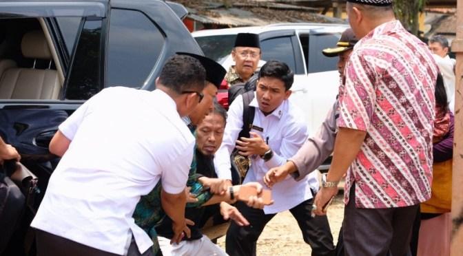 Menkopolhukam Wiranto Ditusuk dengan Senjata Tajam di Pandeglang