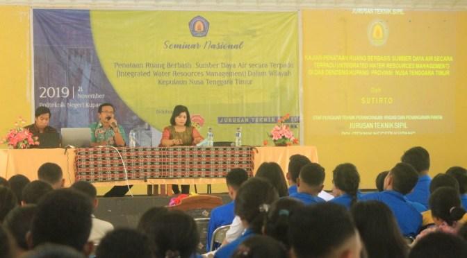 Peduli Sumber Daya Air di NTT, Politeknik Negeri Kupang Helat Seminar Nasional