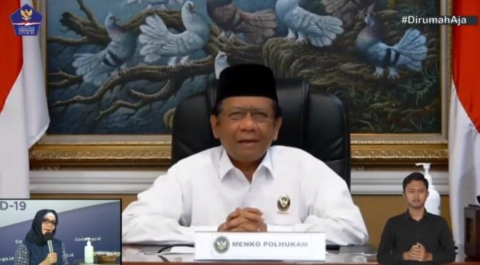 Menko Polhukam: Larangan Mudik Berlaku di Seluruh Wilayah Indonesia