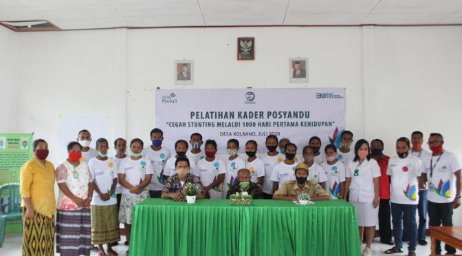 PLN Peduli Stunting, Latih Kader Posyandu di Desa Kolbano Kabupaten TTS