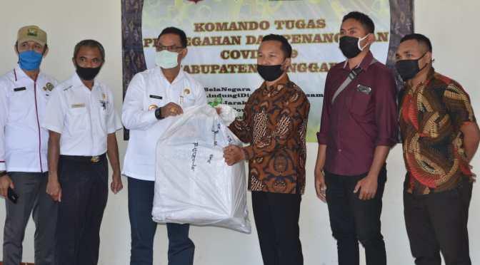 LPPKPD Manggarai Bantu 500 Masker Kain untuk Gugus Tugas Covid Kab. Manggarai