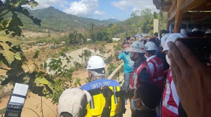 Menteri PUPR Tinjau Progres Pembangunan Bendungan Napung Gete di Sikka