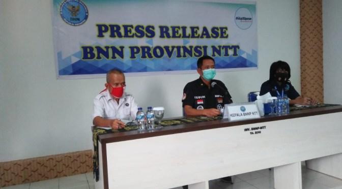 Periode Januari—Oktober 2020, BNNP NTT Tangkap Tujuh Penyalahguna Narkotika