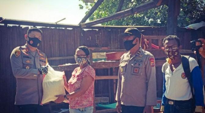 Kapolres Belu AKBP Khairul Saleh Tengok Korban Angin Ribut di Kimbana