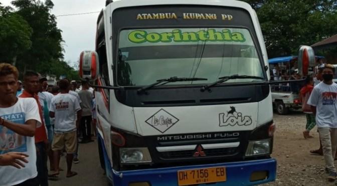 Bus Milenial SEHATI Dirusak Orang Tak Dikenal di Jalan Raya Leoruas