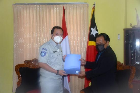 Ahli Waris Amelia De Oliviera di Timor Leste Terima Santunan dari Jasa Raharja