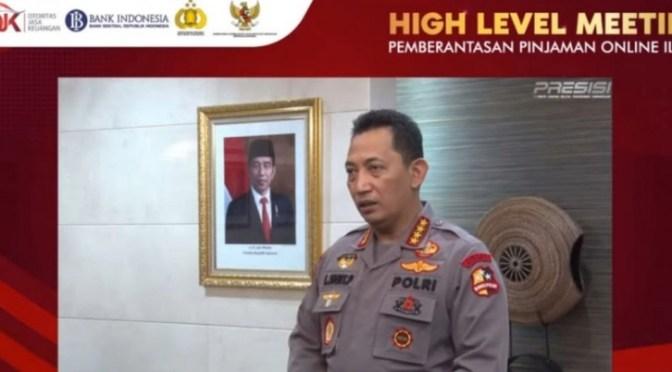 Berantas Pinjaman 'Online' Ilegal, Kapolri Teken Pernyataan Bersama