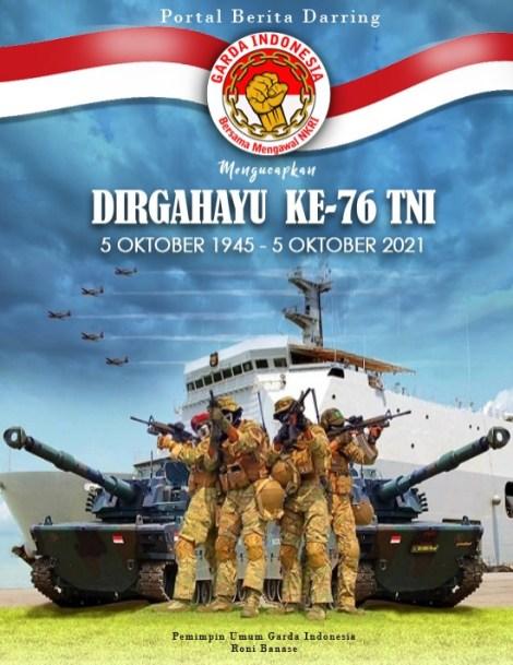 Dirgahayu Ke-76 TNI -- Garda Indonesia