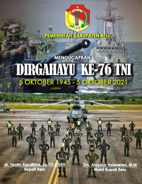 Dirgahayu Ke-76 TNI -- Pemda Belu