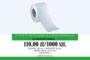 Etykiety pętelkowe 250x25 mm toidealne pętelki napaszporty roślin (fot.Garden Label)