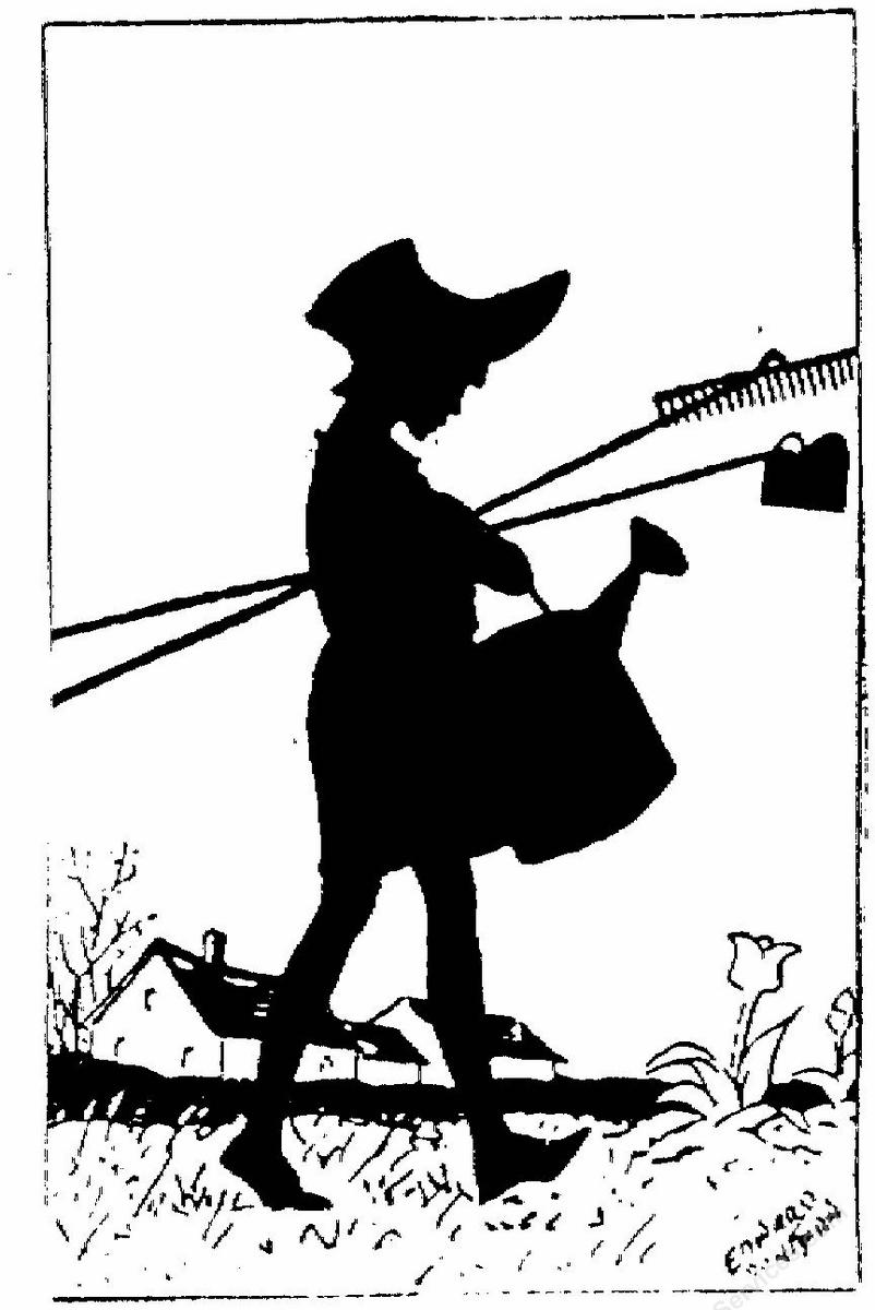 girl with garden tools clipart