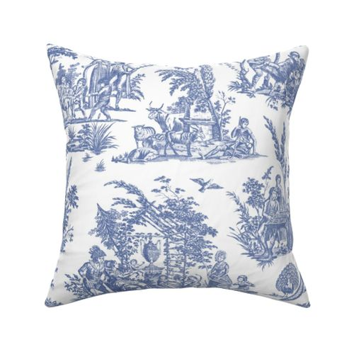 colorful fabrics digitally printed by spoonflower marseilles toile willow ware blue and white
