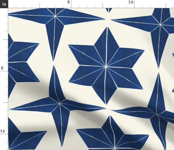 fabric by the yard spanish tile star pattern